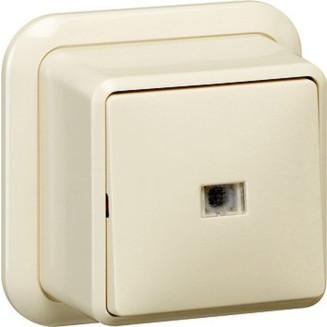 Gira   wisselschakelaar met controleverlichting   Opbouw Crème   011610