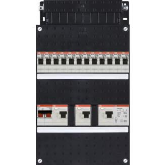 Groepenkast ABB Hafonorm   12 Groepen 12 x Lichtgroepen + Beltransformator   1 Fase   HAD 343434 222T+H42