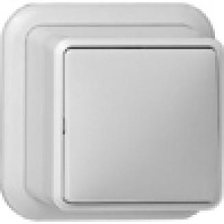 Gira   Schakelaar 2-polig   Opbouw Wit   010211