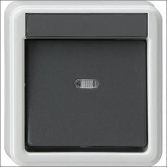 Gira | Wisselschakelaar | Spatwaterdicht opbouw IP44 | 010635