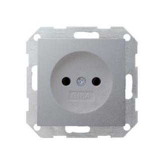 Gira   wandcontactdoos zonder randaarde   Systeem 55 ALU   048026