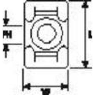 HELLERMANN KR6G5-W-BK-C1 BEV VOET TBV BBAND 6MM UV ZW
