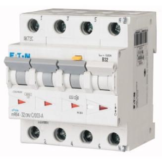 Eaton aardlekautomaat / 3-polig + nul, 30mA, C32A / mRB4-32/3N/C/003-A / 167508