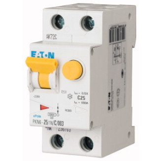 Eaton aardlekautomaat / 1-polig + nul, 30mA, B25A / PKN6-25/1N/B/003-A-M / 236697