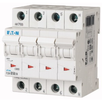 EATON PLSM-C50/3N-MW AUTOMAAT C50A 10KA 3P+N