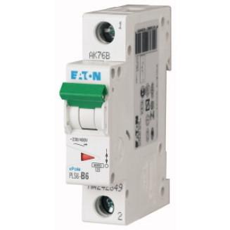 Eaton installatieautomaat / 1-polig, B6A / PLS6-B6-MW / 242649