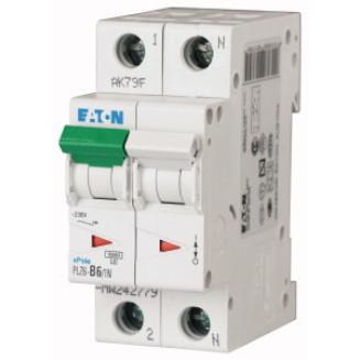 Eaton installatieautomaat / 1-polig + nul, C6A / PLZ6-C6/1N-MW / 242805