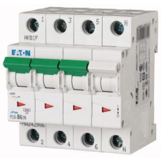 EATON PLS6-B6/3N-MW AUTOMAAT B6A 6KA 3P+N