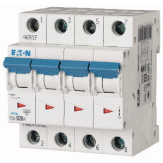 Eaton krachtgroep / 3-polig + nul, C20A / PLS6-C20/3N-MW / 243019