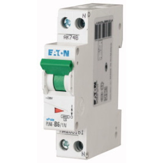 Eaton installatieautomaat / 1-polig + nul, B6A /  PLN6-B6/1N-MW / 263161
