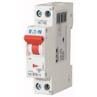 Eaton installatieautomaat / 1-polig + nul, B10A / PLN6-B10/1N-MW / 263162