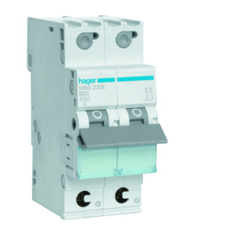 Hager installatieautomaat / 2-polig, B20A / MBS220E