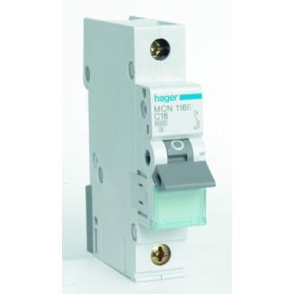 Hager installatieautomaat / 1-polig, C16A / MCN116E