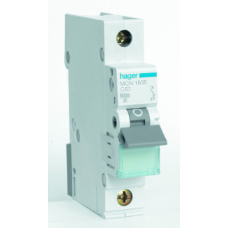 Hager installatieautomaat / 1-polig, C63A / MCN163E