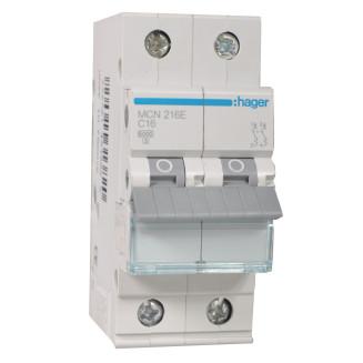 Hager installatieautomaat / 2-polig, C16A / MCN216E
