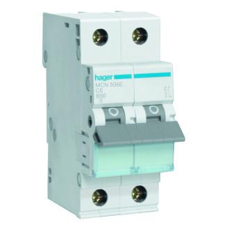 Hager installatieautomaat / 1-polig + nul, C6A / MCN506E
