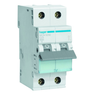 Hager installatieautomaat / 1-polig + nul, C25A / MCN525E