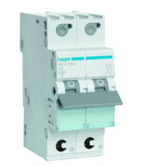 Hager installatieautomaat / 2-polig, C6A / MCS206E