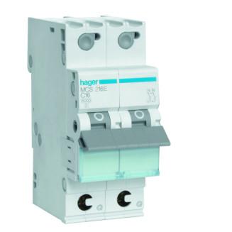 Hager installatieautomaat / 2-polig, C16A / MCS216E
