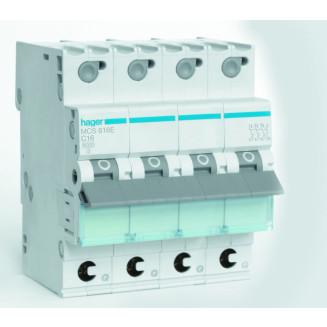 Hager installatieautomaat / 3-polig + nul, C16A / MCS616E