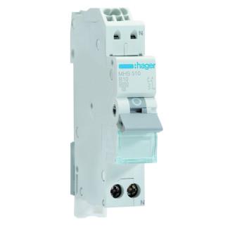 Hager installatieautomaat / 1-polig + nul, B10A / MHS510