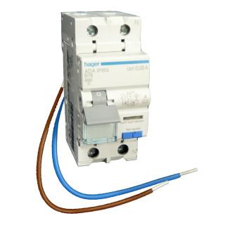 Hager aardlekautomaat uitbreidingsset / 2-polig, 30mA, B16A / VKS02SA
