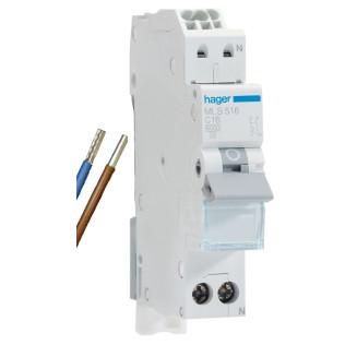Hager uitbreidingsset installatieautomaat   C16A 2P   VKS12SJ