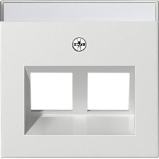 Gira | inzetplaat 2 x modular-jack | standaard 55 ZWG