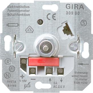 Gira   Potentiometer met schakelaar 1-10 Volt   030900