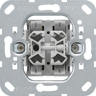 Gira | Combinatie wisselschakelaar/drukcontact | 013900