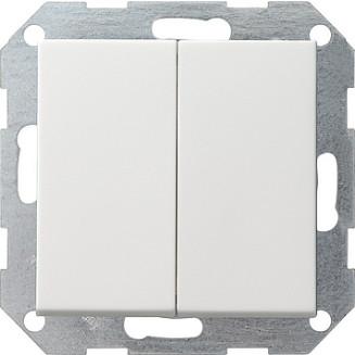 Gira drukvlakschakelaar Serie zuiver wit glanzend standaard 55