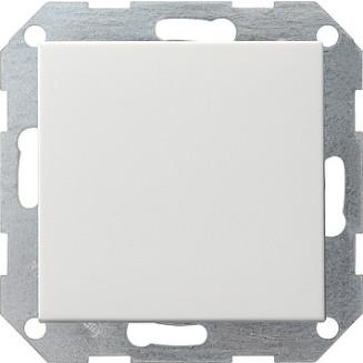Gira drukvlakschakelaar Kruis zuiver wit glanzend standaard 55