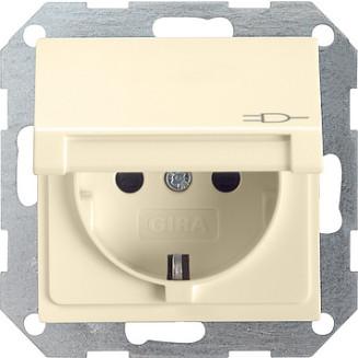 Gira | wandcontactdoos met klapdeksel en randaarde | standaard 55 CWG