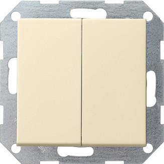 Gira | drukvlakschakelaar 2X Wissel | standaard 55 CWG