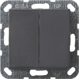 Gira   Drukvlakschakelaar serieschakelaar   Systeem 55 ANTR   012528