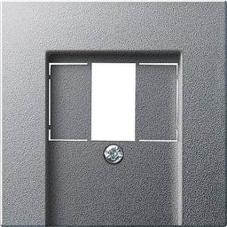 Gira   centraalplaat USB/luidspreker   Systeem 55 ALU   027626