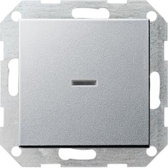 Gira | Drukvlakschakelaar controleverlichting 1-polig | Systeem 55 ALU | 013626