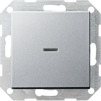 Gira | Drukvlakschakelaar controleverlichting 2-polig | Systeem 55 ALU | 012226