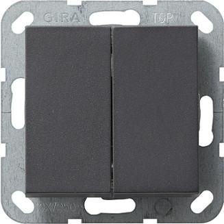 Gira | Drukvlakschakelaar schuinstaand wissel-/ wisselschakelaar | Systeem 55 ANTR | 012828