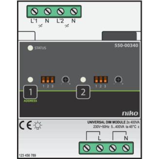 NIKO 550-00340 DIMMODULE HC 2X400W