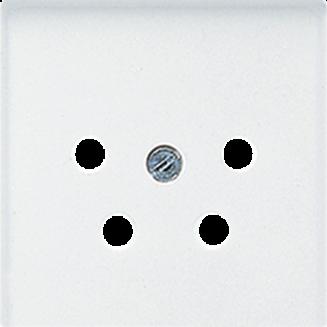 Jung | Centraalplaat voor telefoon 4-polig | AS500 Alpine wit | A 561 NTF WW