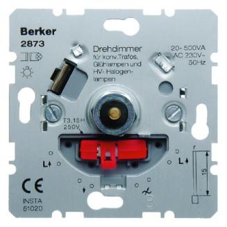 BERKER 2873 DIMMER 20-500W GL/HV/LED CONV