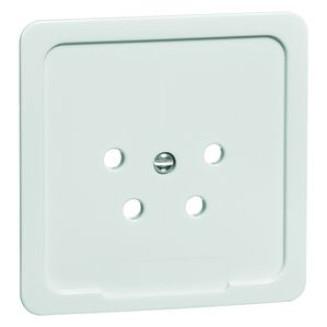 Peha | Centraalplaat voor telefoonstekker | Standaard Glanzend Wit | 80.610.02 PTT