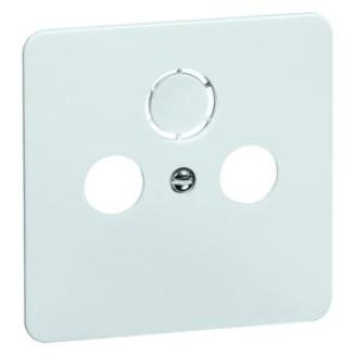 Peha | Centraalplaat voor coax/antenne-aansluitdoos | Standaard Glanzend Wit | 80.610.02