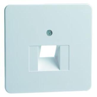 Peha   Centraalplaat voor UAE/Data wandcontactdoos   Standaard Glanzend Wit   80.610.02 UAE/1-N