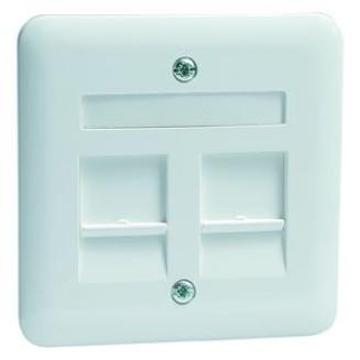 Peha | Centraalplaat modular jack 2-voudig | Standaard Glanzend Wit | 80.610.02 MJ2 NA