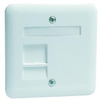 Peha | Centraalplaat modular jack 1-voudig | Standaard Glanzend Wit | 80.610.02 MJ1 NA