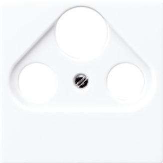Jung | Centraalplaat voor Coax en satelliet | AS500 Alpine wit | A 561 PLSAT WW