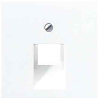 Jung | Centraalplaat 1-voudig modular jack | AS500 Alpine wit | A 569-1 PLUA WW