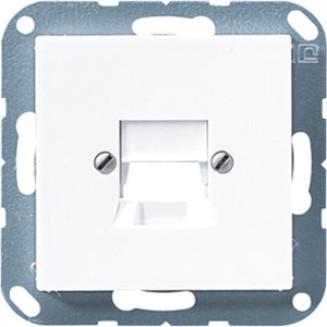 Jung | Centraalplaat 1-voudig modular jack | AS500 Alpine wit | A 569-1 NWE WW